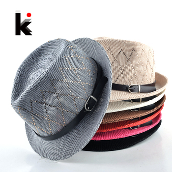 2018 Fashion hats for women Unisex Leisure cap Panama straw caps beach Breathable hat chapeu feminino sun hats for men 1