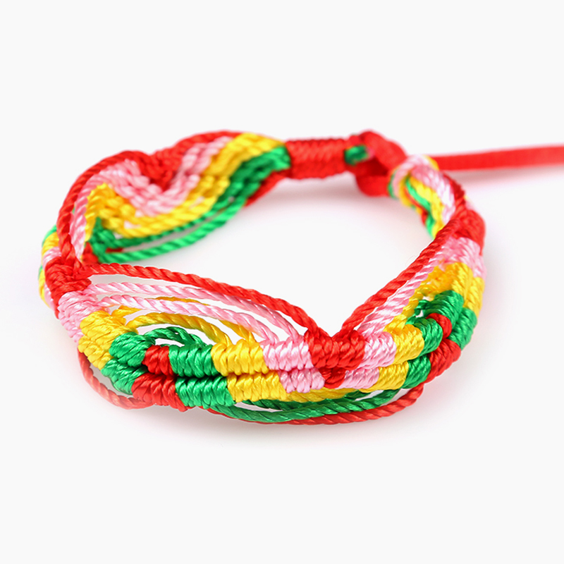 Cheap brazilian bracelet multicolor braided boho chain bohemian tassel handmade sport chain friendship bracelets brown unisex 2