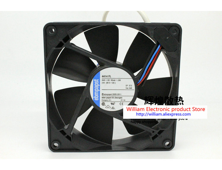New Original for EBM Papst 4414FL 24V 1.2W 120*120*25MM 12 cm Inverter cooling fan new original german ebm papst rl90 18 56 ac220v 20w centrifugal blower cooling fan