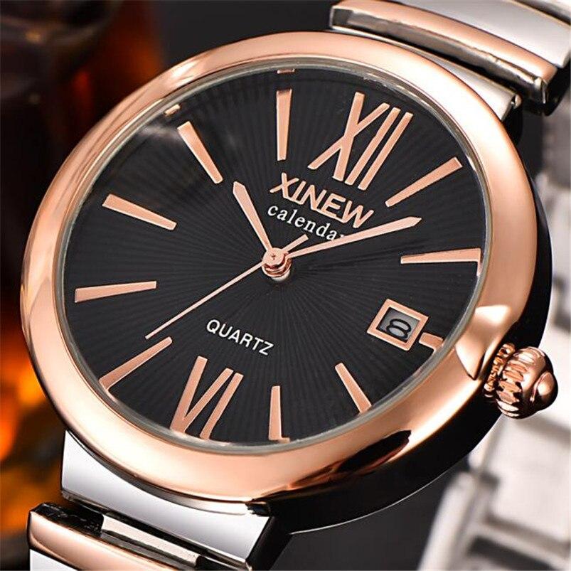 High Quality Unisex Watch Men Women Watches Couple Lover's Stainless Steel Quartz Date Wrist Watch Relogio Masculino A60