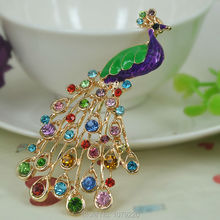 Cute Peacock Keyring Rhinestone Crystal Charm Pendant Key Bag Chain Handbag Jewelry Keychain Christmas Mother's Day Gift