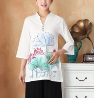 2014 Fashion Summer Linen Chinese Tradition Women S Top Blouse Shirt Size S M L XL