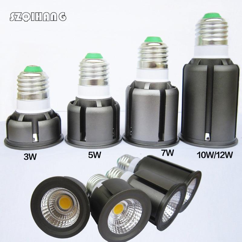Ultra Bright Dimmable 5W 7W 10W 12W AC85~265V E27 E14 GU10 GU5.3 MR16  COB LED Bulbs Spotlight led Lamp Light
