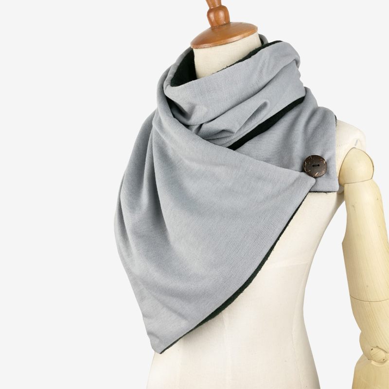 Couverture Design Winter Scarf Women Man Foulard Femme Knit Mens Button Neck Warmer Scarf Hijab Scarf Wraps