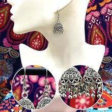 Fashion Ethnic Earrings Vintage Handwork Tibetan Silver Color Metal Irregular Tassel Drop Earrings For Women Indian Jewelry