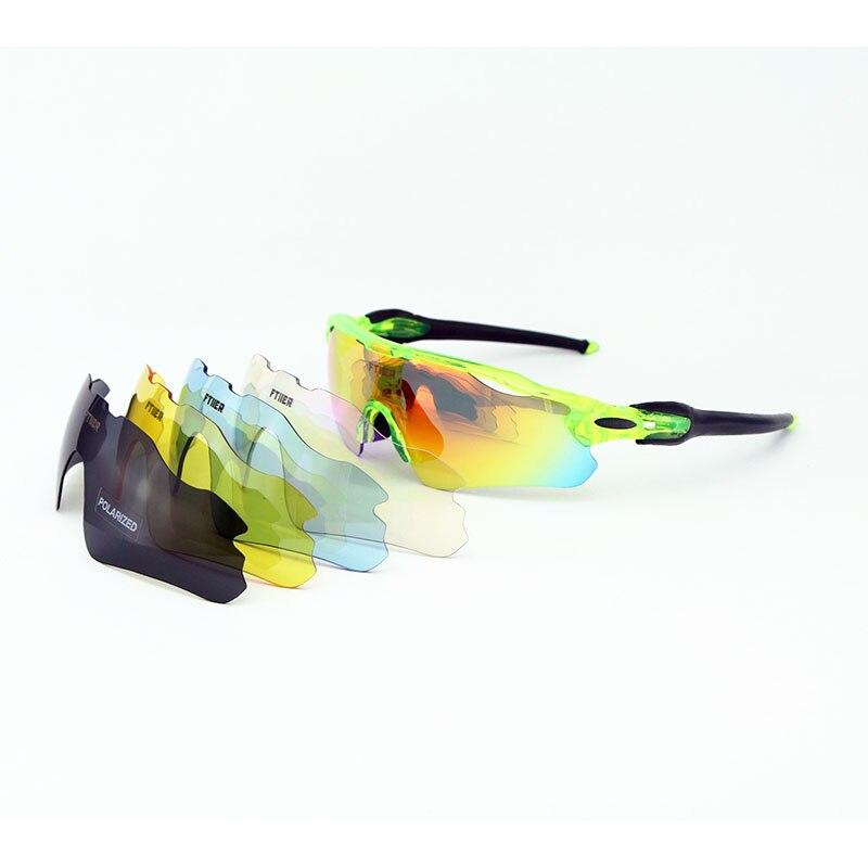 5 Lenses Polarized Cycling Glasses Men Women UV400 Sunglasses MTB Bike Riding Mountain Bicycle Glass EV