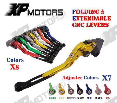Adjustable Folding & Extending Brake Clutch Lever For Suzuki GSXR600 GSXR750 2011-2015 GSXR1000 2009-2015 GSX-S1000 F/ABS 2015 adjustable billet short fold folding brake clutch levers for suzuki gsxr 600 750 1000 gsxr600 gsxr750 gsxr1000 05 06 07 08 09 10