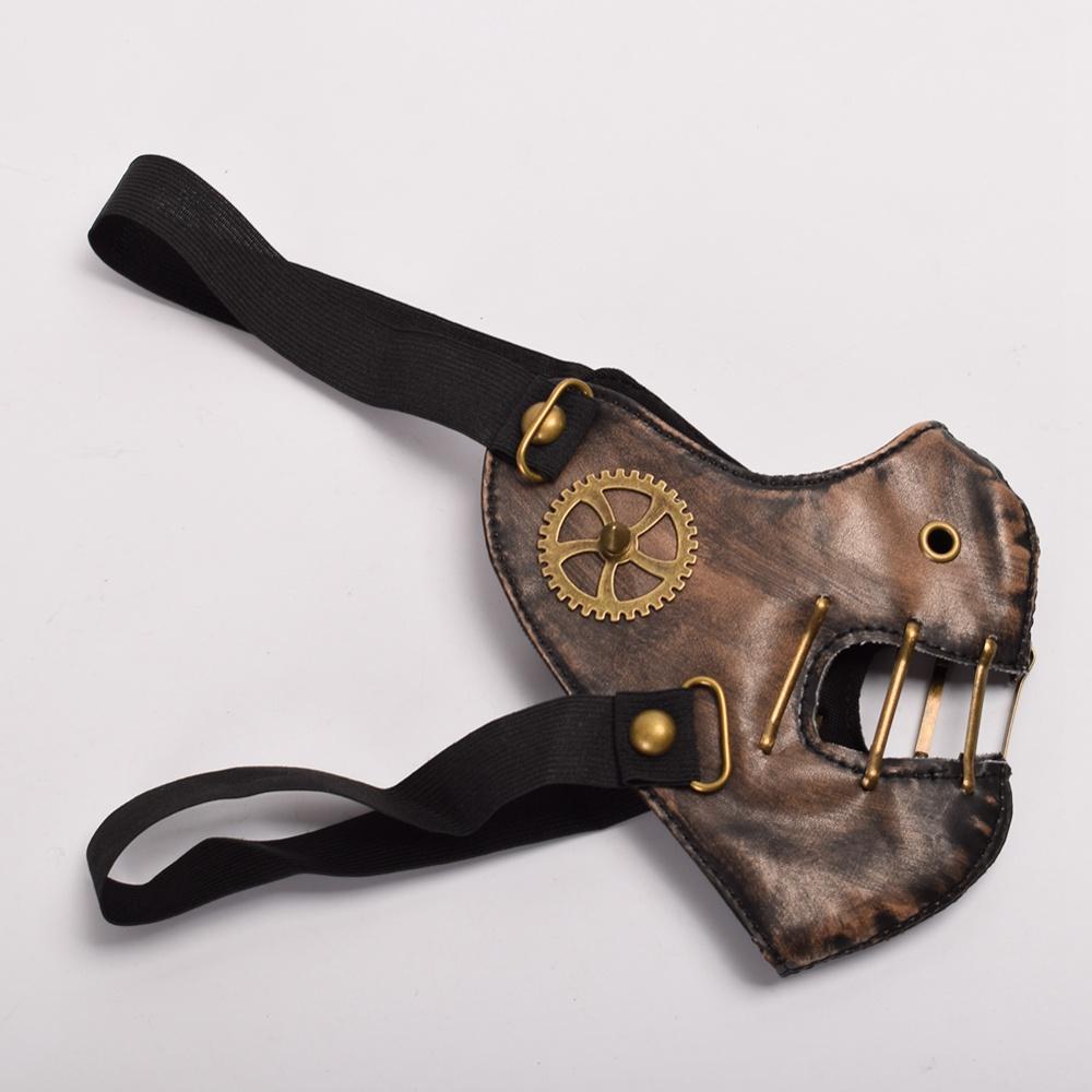 steampunk muzzle mask side