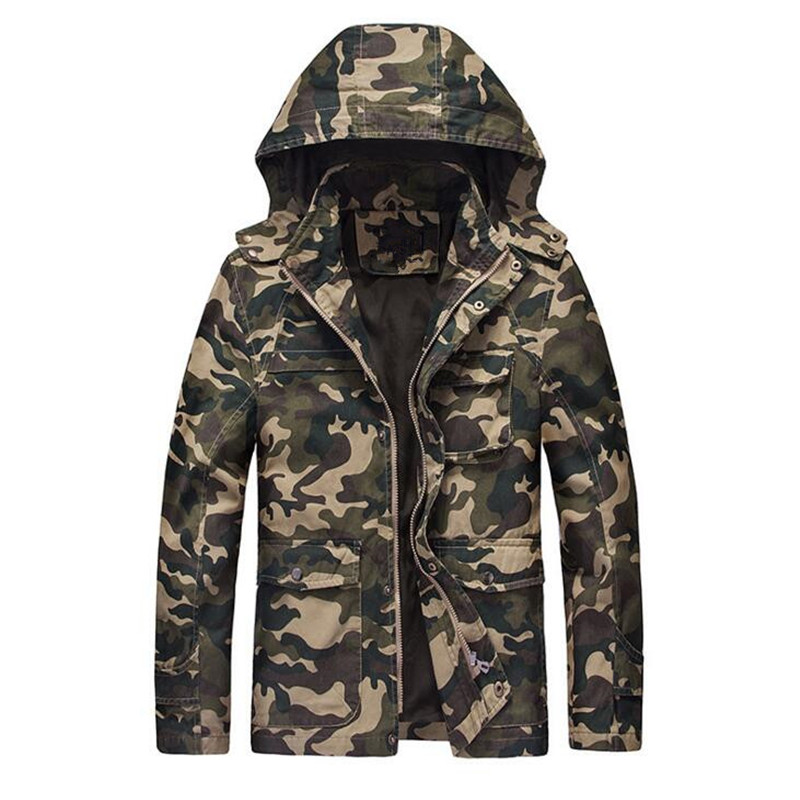 Camouflage Jackets Men 2017 New Hoy Selling Hooded Uniform Mens Jackets Windbreaker Jacket Male Cotton Special Forces Coat 4XL
