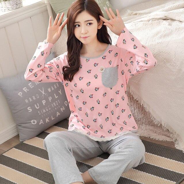 Новый Дизайн 2016 Пижамы Устанавливает Осень Зима Пижамы Пижамы Пижамы mujer Домашней Одежды Леди пижамы костюмы pijamas Бесплатная Доставка