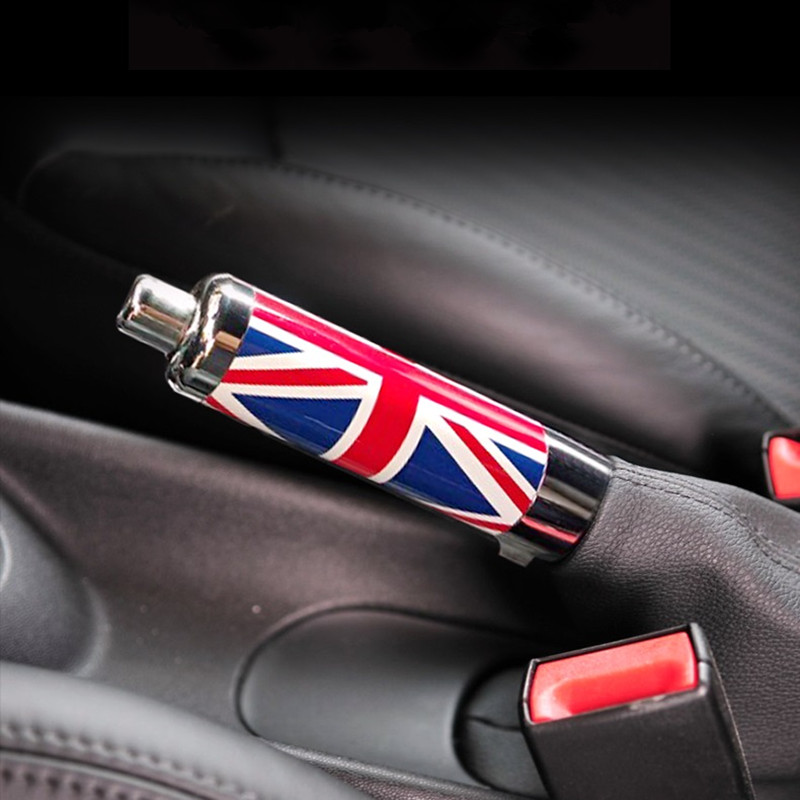 Alloy Union Jack Car Handbrake Grips Hand Brake Cover Case Replacement Part for Mini Cooper R55 R56 R57 R58 R59 Styling