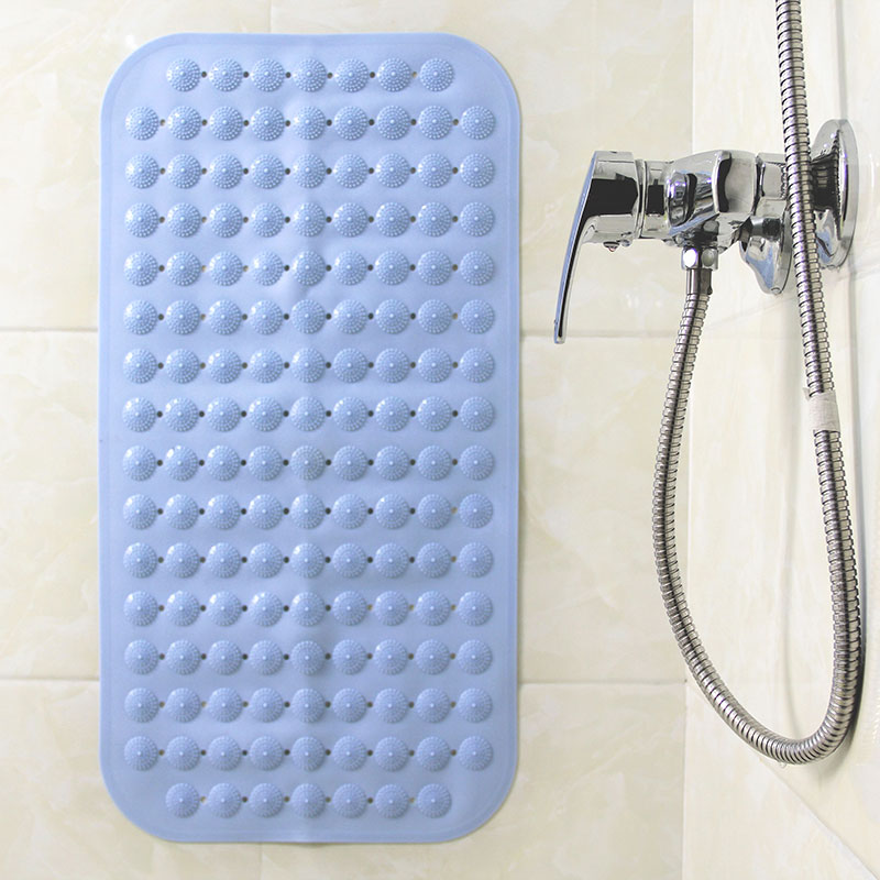 Non-slip Bathroom Round Point Massage Mat Pad Pvc Pebble Shower Tub Bathing Massager Suction Cup Foot Stress Relax Care