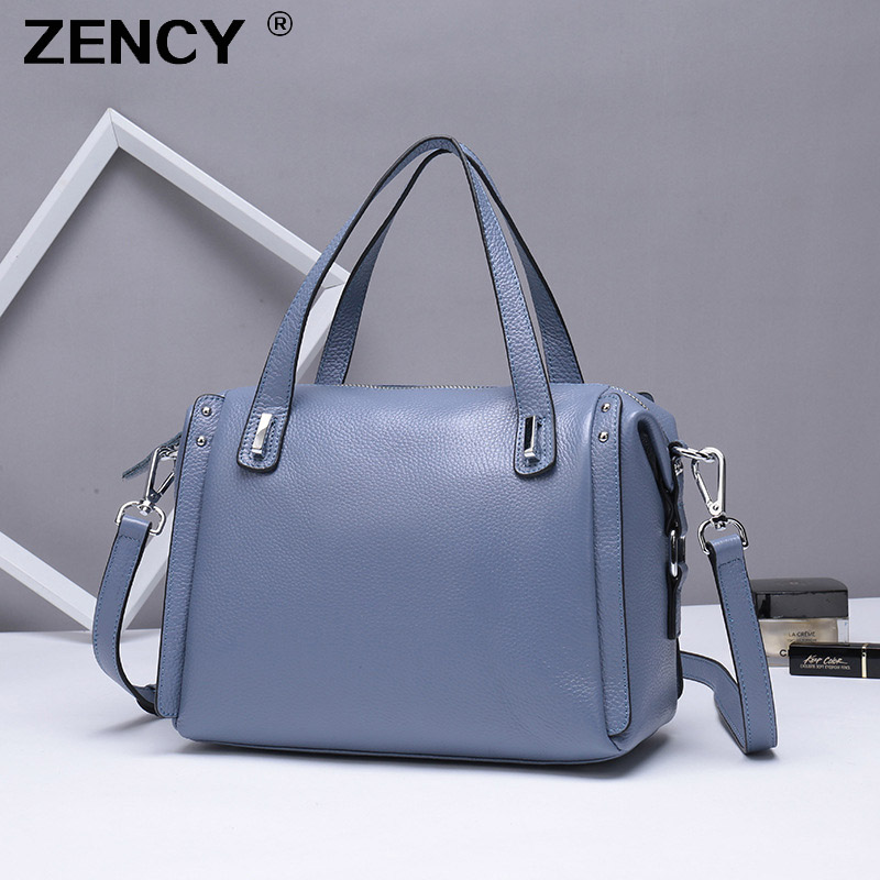 ZENCY 100% Genuine Cow Leather Women Top Handle Handbags Female Classic Real Cowhide Tote Shoulder Crossbody Messenger BagsZENCY 100% Genuine Cow Leather Women Top Handle Handbags Female Classic Real Cowhide Tote Shoulder Crossbody Messenger Bags