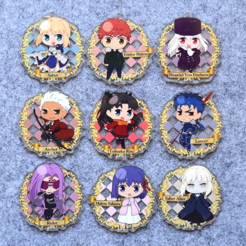 Fate/stay night HF Anime Rin Tohsaka Sakura Mato Illyasviel Sakura Mato Lancer Rider Saber Alter Charm Acrylic Keychain смартфон zte blade a510 серый 5 8 гб lte wi fi gps 3g