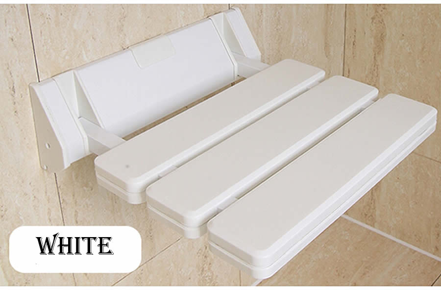 Stoel In Douche : Abs aluminium folding douche seat spacing saving wandmontage