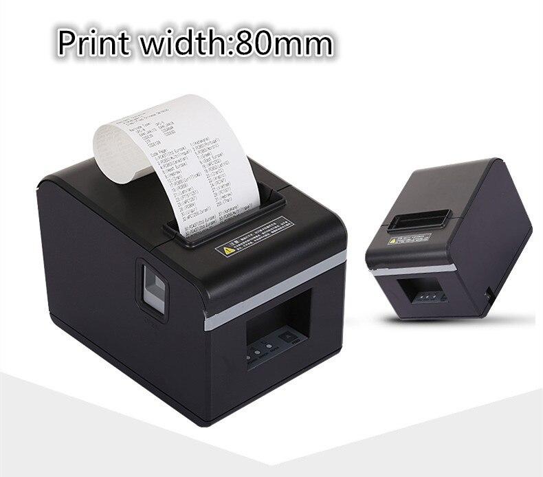 Nouvelle vente en gros de haute qualité 80mm thermique petite imprimante de reçu de ticket impression de coupe automatique port USB ou port Ethernet