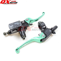 GREEN CNC Folding Brake Lever ASV Clutch Lever With Front Pump Fit Most Motorcycle Dirt Pit