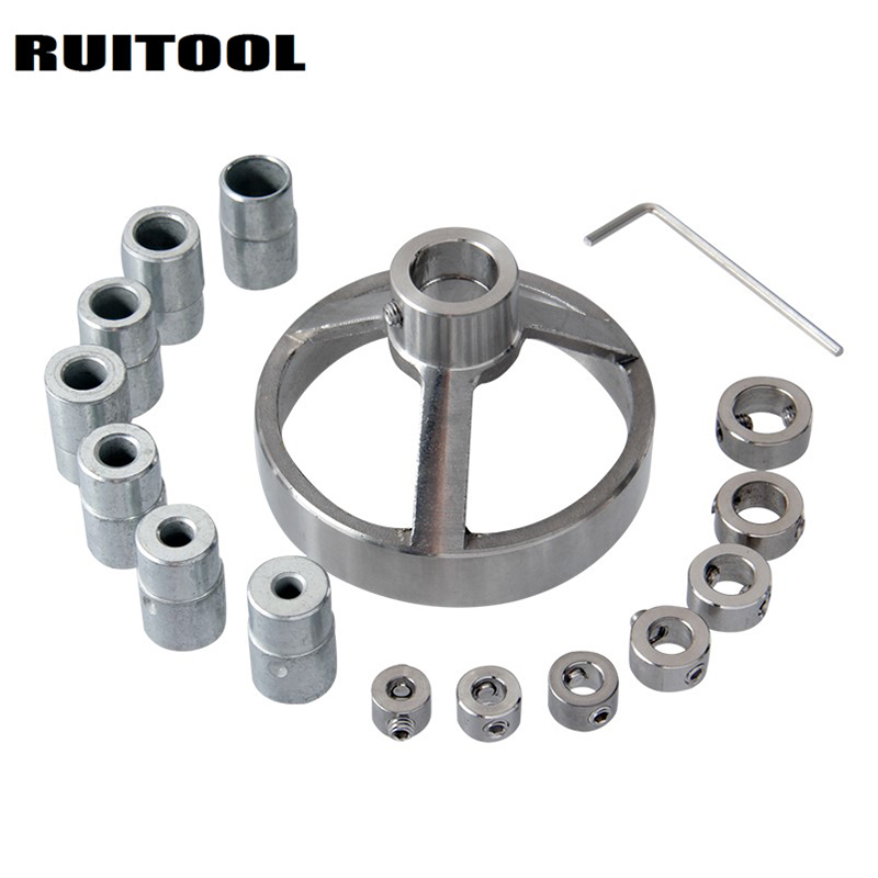 Drill Guide Vertical Pocket Hole Jig 5/6/7/8/9/10/12mm Drill Bit Hole Locator Stainless Steel Woodworking Jig Kit 16pcs new pocket hole jig drill guide hole positioner locator with clamp woodworking tool kit suitable for joining panel furniture