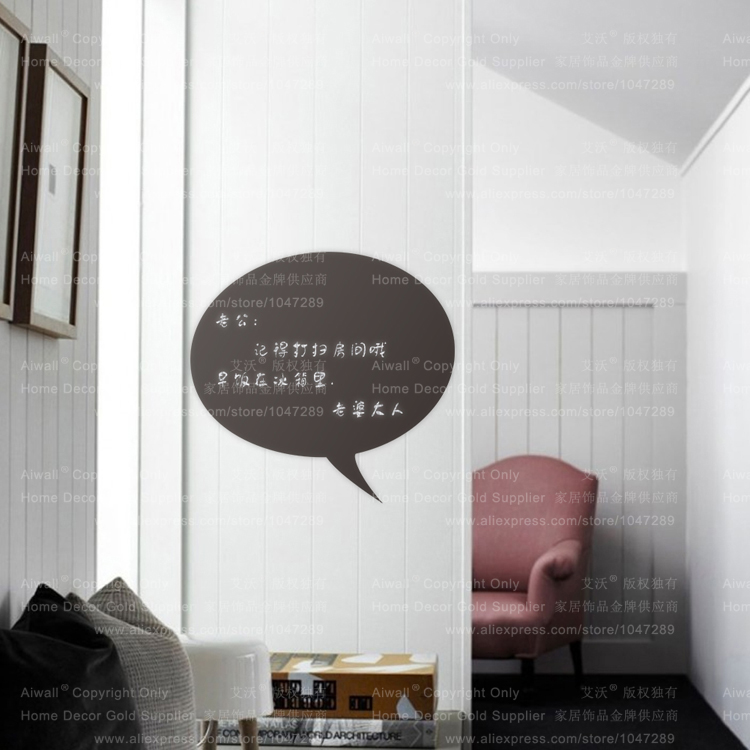 217 DIY Chalkboard Kitchen Decal Vinyl Bubble For Home Decor Waterproof Leave A Message Blackboard Removeable Wall Sticker