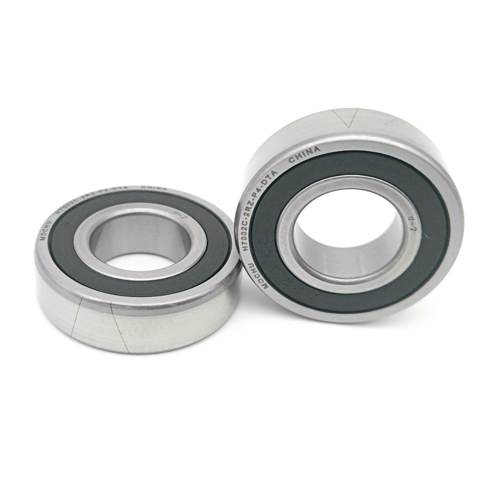 1 Pair MOCHU 7002 H7002C 2RZ P4 DT A 15X32X9 Sealed Angular Contact Bearings Speed Spindle Bearings CNC ABEC-7