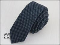 (1 pz/lotto) 100% lana uomo black tie/scuro nero piviere design di Alta Qualità di svago di modo narrow neck tie spedizione gratuita