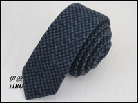 1 Pcs Lot 100 Wool Men S Black Tie Dark Black Plover Design High Quality