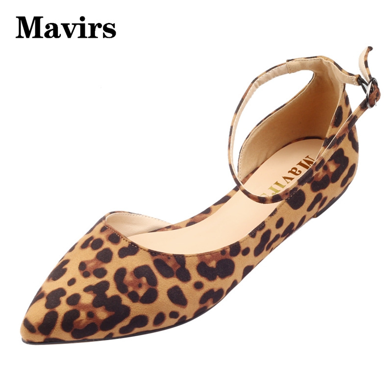 Mavirs Women's Flats Ankle strap Pointed toe Comfortable Shoes Metal Side open Ladies shoes women Causal Spring Autumn Black spring autumn solid metal decoration flats shoes fashion women flock pointed toe buckle strap ballet flats size 35 40 k257
