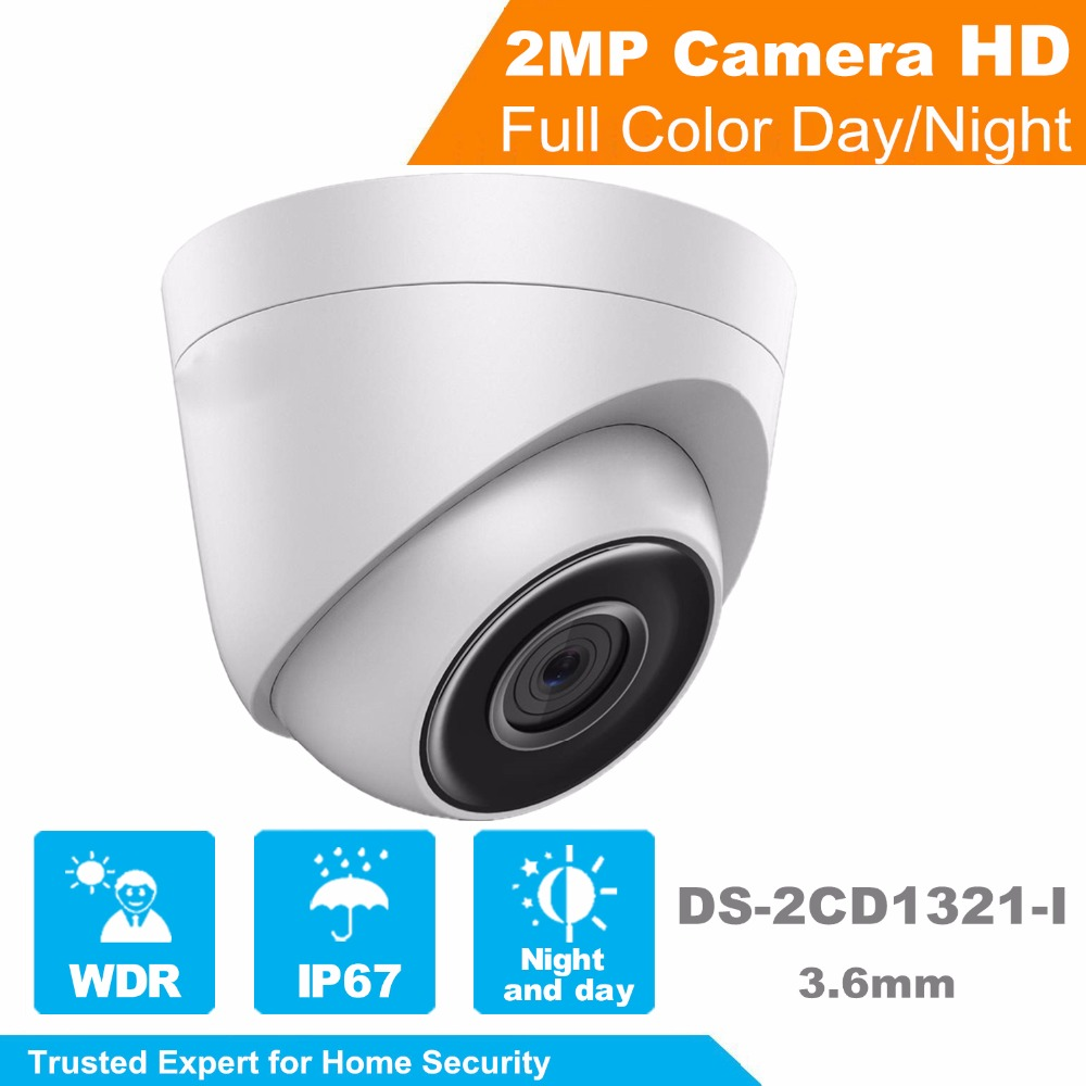 In Stock HIKVISION Security Camera DS-2CD1321-I OEM 2.0 MP CMOS Network Turret IP Camera Full HD CCTV Camera with Brown Box 940 0 3 mp 1 3 cmos network ip camera w 2 0 lcd time display black 1 x 18650