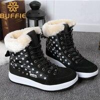 Winter schuhe kinder schnee stiefel kurze stil pelz stiefel warme plüsch plus größe 41 schwarz farbe schule sport kostenloser versand lace up|Stiefel|Mutter und Kind -