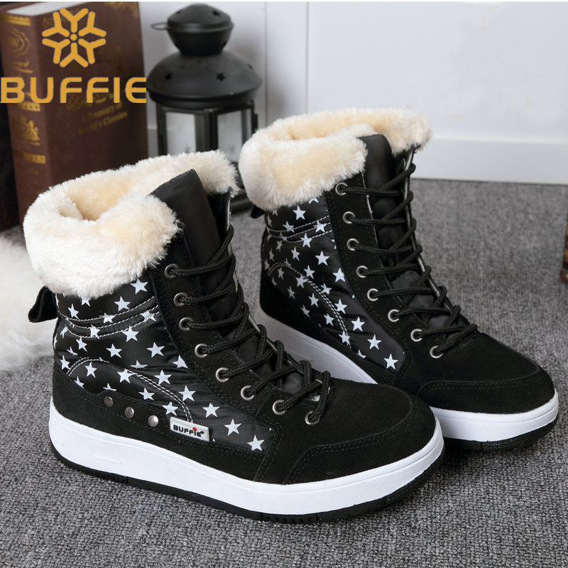 winter shoes women and children brand snow boots ankle  fur boots warm shoes plush  plus size 41 free shipping