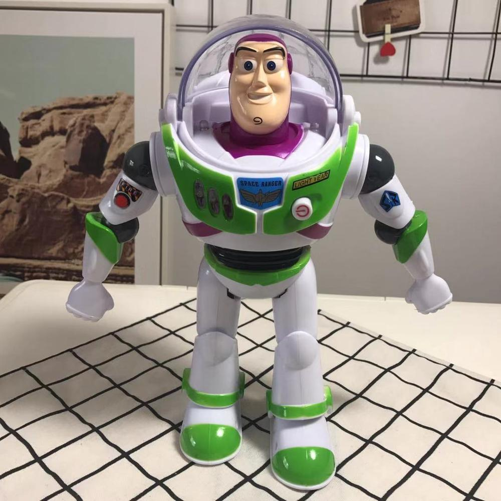 New Toy Story Buzz Lightyear Anime Action Figures Toy Lights Voices Speak English Movable Toy Children Birthday Best Gift image