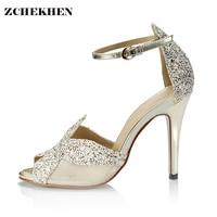 2018 Summer Women S Luxury Brand Bling Rhinestones Sandals Sexy Elegant Thin High Heels Wedding Party