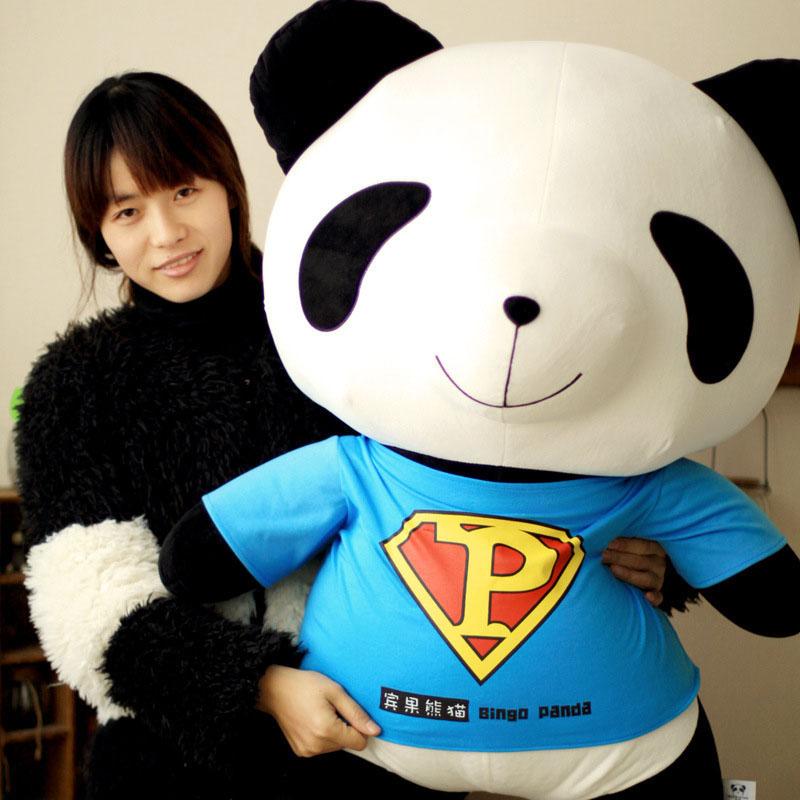 50 cm Superman panda En Peluche jouets en peluche Animal Forme Oreiller Bébé Jouets enfant Jouets de dessin animé poupée cadeau d'anniversaire
