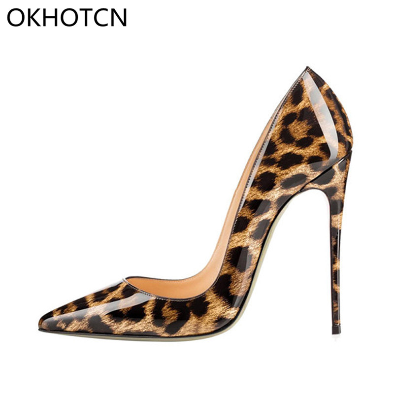 Detail Feedback Questions about 12CM Brand Pump Plus Size 42 Women Pumps  Sexy Shoes Woman Thin High Heel Pumps Leopard Women Shoes Pointed Toe High  Heels ... 48424569e78f