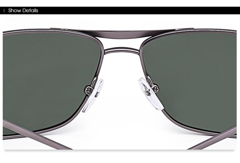 Green/Gray/Brown Rectangular Sunglasses