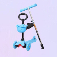 Toddler 3 in1 Kick Scooter With Big Light Up Wheels And Safe Handle O-bar kids scooter with EN71