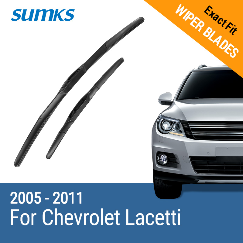SUMKS Wiper Blades for Chevrolet Lacetti 22&19 Fit Hook Arms 2005 2006 2007 2008 2009 2010 2011