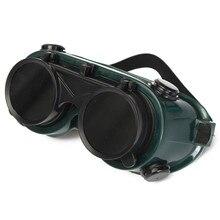 NEW PC Solder Welding Goggles Blinder Antiglare With Fillet Blinder Safely Security Green + Black Free Shipping
