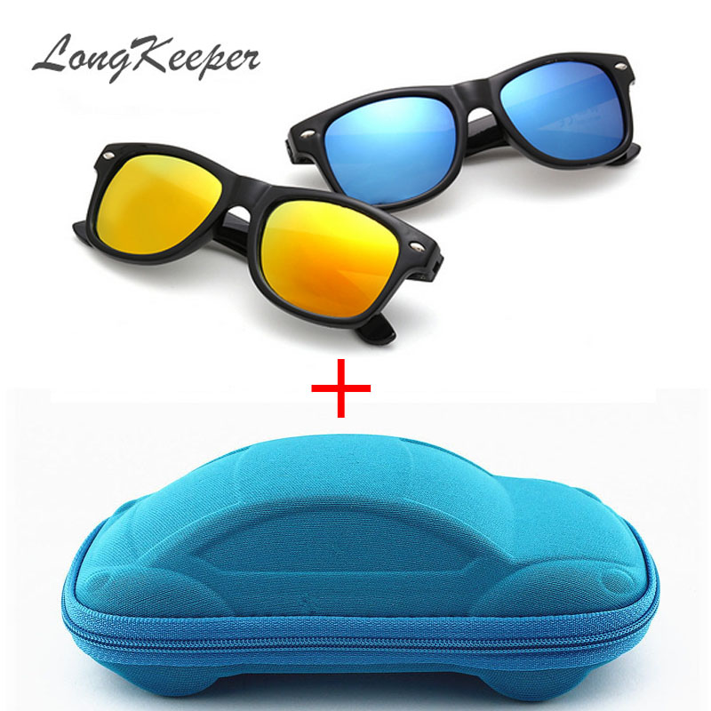 LongKeeper Cool Sunglasses for Kids Sun Glasses for Children Boys Girls Sunglass UV 400 Protection with Case Children Gift(China)