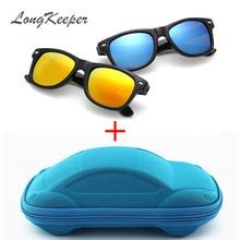 Longkeader, крутые солнцезащитные очки для детей, солнцезащитные очки для детей, для мальчиков и девочек, солнцезащитные очки с защитой от ультрафиолета 400, чехол, подарок для детей