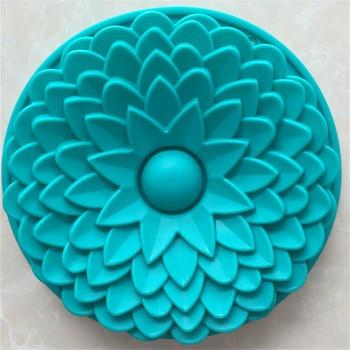 1 ud. Molde de silicona grande de Color al azar para pastel de girasol molde de Chocolate Fondant molde para hornear Muffin sartén para pancakes herramientas de pastel