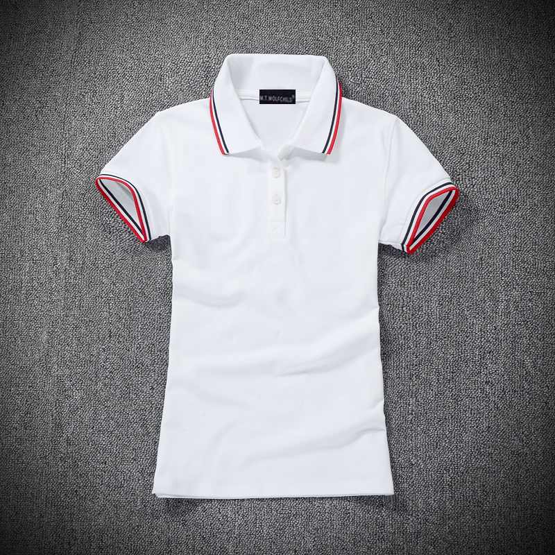 High quality 2018 Summer brand Womens short sleeve polos shirts cotton casual wo