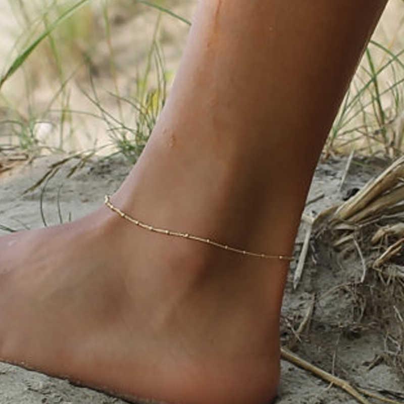 新しいファッション繊細なゴールド衛星魅力ヴィンテージ足首のブレスレット足ジュエリー夏裸足ビーチtornozeleira