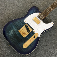 Electric Guitar TELE guitars rosewood fingerboard flame maple top gold parts in stock
