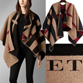 Olivia Palermo  brand Plaid cashmere scarves Prorsum Monogram Block Poncho Scarf check out Manta