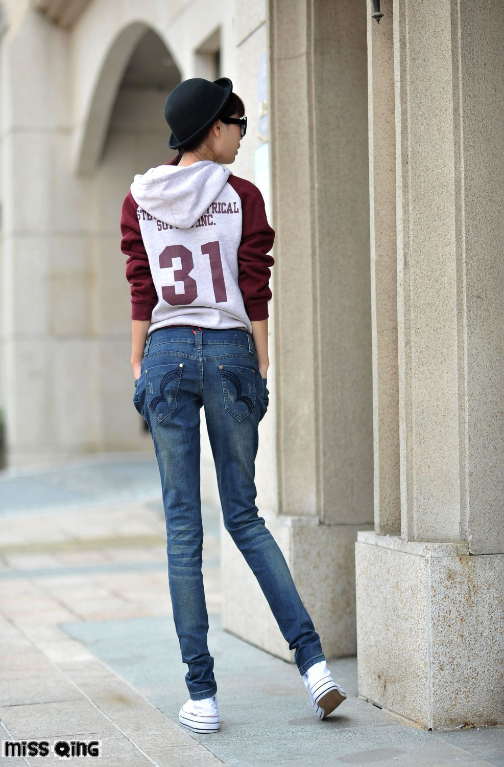 Aliexpress.com : Buy MISS QING Quality women's casual pants JEANS ...