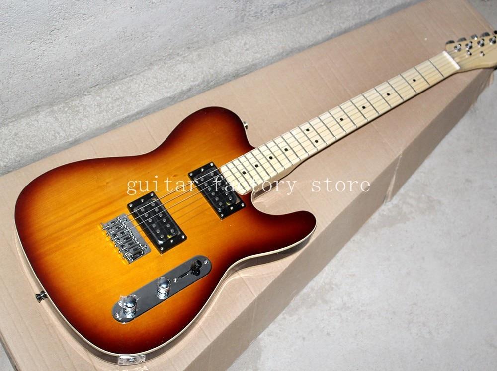 custom shop standard sunburst tl electric guitar new style vintage sunburst color real pics tl. Black Bedroom Furniture Sets. Home Design Ideas