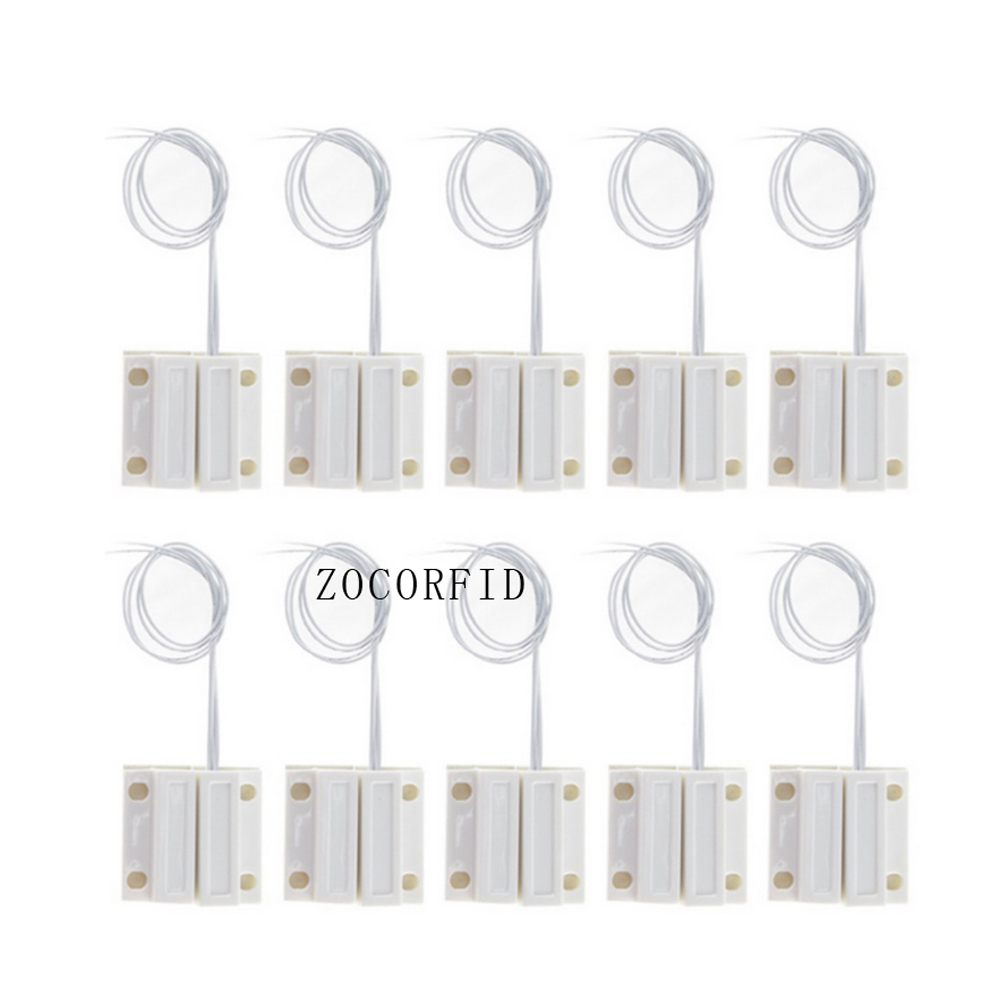 10pcs MC-38B normally close NC type Wired Door Window Sensor Magnetic Switch Home Alarm System for alarm or cabinet light marumi mc close up 1 55mm