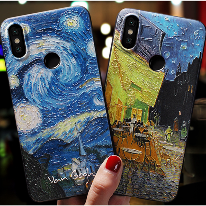 For Xiaomi Redmi Note 7 Pro Case Starry Sky Emboss Cover For Xiaomi Mi 8 Lite 9 SE A1 A2 Redmi Note 7 8 Pro 5 Plus Case Silicone