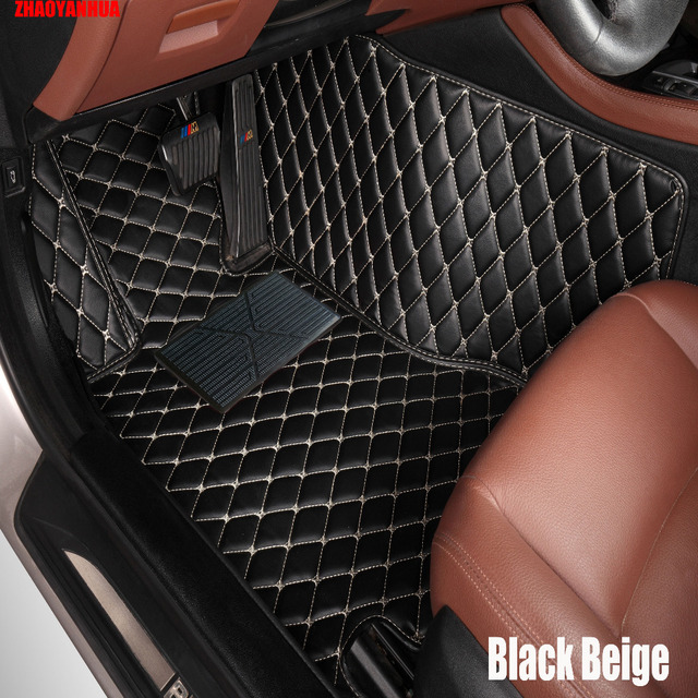 ZHAOYANHUA Car floor mats Case for Peugeot 206 207 308sw 3008 4008 ...
